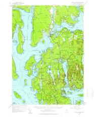 Mount Desert, Maine 1956 (1960 b) USGS Old Topo Map 15x15 Quad