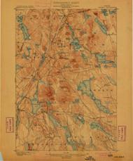 Orland, Maine 1900 (1900) USGS Old Topo Map 15x15 Quad
