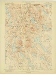 Orland, Maine 1900 (1902) USGS Old Topo Map 15x15 Quad