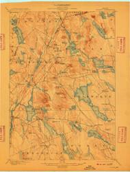 Orland, Maine 1900 (1909) USGS Old Topo Map 15x15 Quad