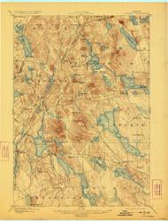 Orland, Maine 1900 (1923) USGS Old Topo Map 15x15 Quad