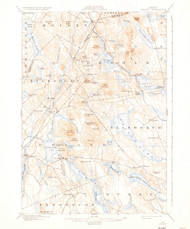 Orland, Maine 1900 (1935) USGS Old Topo Map 15x15 Quad