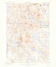 Orland, Maine 1900 (1944) USGS Old Topo Map 15x15 Quad