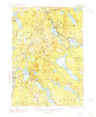 Orland, Maine 1948 (1948 a) USGS Old Topo Map 15x15 Quad