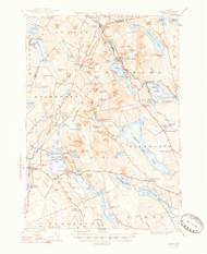 Orland, Maine 1948 (1948 b) USGS Old Topo Map 15x15 Quad