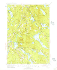Orland, Maine 1955 (1956) USGS Old Topo Map 15x15 Quad