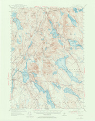 Orland, Maine 1955 (1973 a) USGS Old Topo Map 15x15 Quad