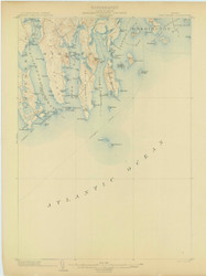 Petit Manan, Maine 1904 (1904) USGS Old Topo Map 15x15 Quad