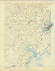 Portland, Maine 1893 (1893) USGS Old Topo Map 15x15 Quad