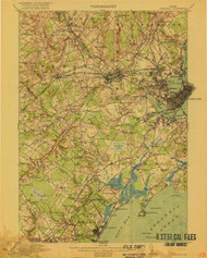 Portland, Maine 1916 (1916 a) USGS Old Topo Map 15x15 Quad