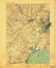 Portland, Maine 1916 (1923) USGS Old Topo Map 15x15 Quad