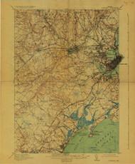 Portland, Maine 1916 (1929) USGS Old Topo Map 15x15 Quad