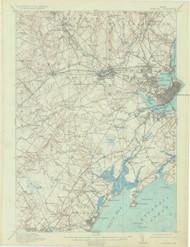 Portland, Maine 1916 (1934) USGS Old Topo Map 15x15 Quad