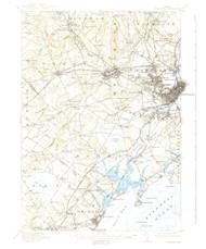 Portland, Maine 1916 (1939) USGS Old Topo Map 15x15 Quad