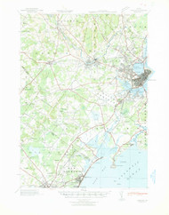 Portland, Maine 1941 (1941) USGS Old Topo Map 15x15 Quad