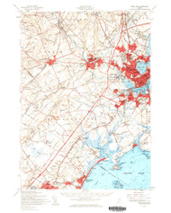 Portland, Maine 1957 (1960 a) USGS Old Topo Map 15x15 Quad