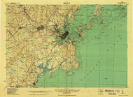 Portland And Vicinity, Maine 1918 (1926) USGS Old Topo Map 15x15 Quad