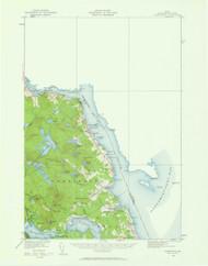 Robbinston, Maine 1929 (1961 a) USGS Old Topo Map 15x15 Quad