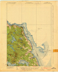 Robbinston, Maine 1931 (1931) USGS Old Topo Map 15x15 Quad