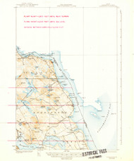 Robbinston, Maine 1931 (1939 a) USGS Old Topo Map 15x15 Quad
