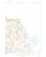 Robbinston, Maine 1931 (1939 b) USGS Old Topo Map 15x15 Quad