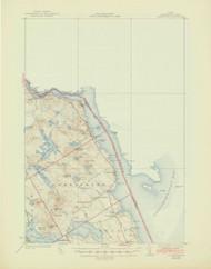 Robbinston, Maine 1931 (1945) USGS Old Topo Map 15x15 Quad
