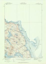 Robbinston, Maine 1929 (1961 b) USGS Old Topo Map 15x15 Quad