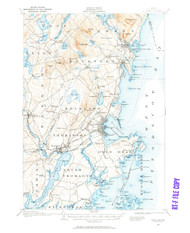 Rockland, Maine 1904 (1961) USGS Old Topo Map 15x15 Quad