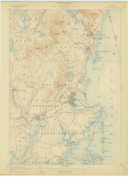 Rockland, Maine 1906 (1906) USGS Old Topo Map 15x15 Quad
