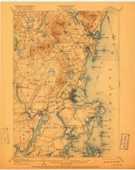 Rockland, Maine 1906 (1918) USGS Old Topo Map 15x15 Quad