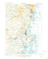 Rockland, Maine 1906 (1945) USGS Old Topo Map 15x15 Quad
