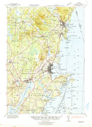 Rockland, Maine 1941 (1941) USGS Old Topo Map 15x15 Quad