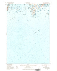 Small Point, Maine 1957 (1960 a) USGS Old Topo Map 15x15 Quad