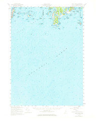 Small Point, Maine 1957 (1969 b) USGS Old Topo Map 15x15 Quad