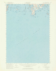 Small Point, Maine 1957 (1969 a) USGS Old Topo Map 15x15 Quad