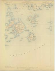 Swan Island, Maine 1904 (1904) USGS Old Topo Map 15x15 Quad