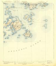 Swan Island, Maine 1904 (1943) USGS Old Topo Map 15x15 Quad