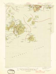 Swan Island, Maine 1945 (1945 b) USGS Old Topo Map 15x15 Quad