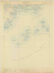 Tenants Harbor, Maine 1906 (1906) USGS Old Topo Map 15x15 Quad