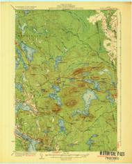 Tunk Lake, Maine 1932 (1932 a) USGS Old Topo Map 15x15 Quad