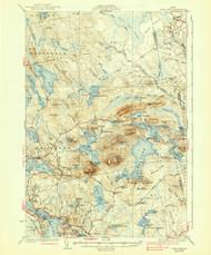 Tunk Lake, Maine 1932 (1939) USGS Old Topo Map 15x15 Quad