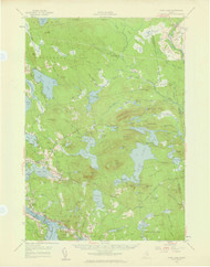 Tunk Lake, Maine 1957 (1959 a) USGS Old Topo Map 15x15 Quad