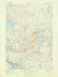 Tunk Lake, Maine 1957 (1959 b) USGS Old Topo Map 15x15 Quad