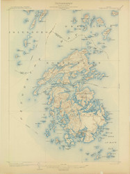 Vinalhaven, Maine 1904 (1904) USGS Old Topo Map 15x15 Quad