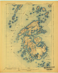 Vinalhaven, Maine 1904 (1925) USGS Old Topo Map 15x15 Quad