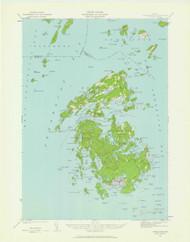 Vinalhaven, Maine 1941 (1962) USGS Old Topo Map 15x15 Quad