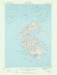 Vinalhaven, Maine 1941 (1970 a) USGS Old Topo Map 15x15 Quad