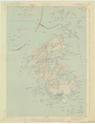 Vinalhaven, Maine 1944 (1944) USGS Old Topo Map 15x15 Quad