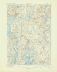 Waldoboro, Maine 1915 (1947) USGS Old Topo Map 15x15 Quad