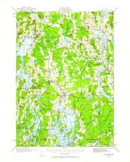 Waldoboro, Maine 1913 (1961) USGS Old Topo Map 15x15 Quad